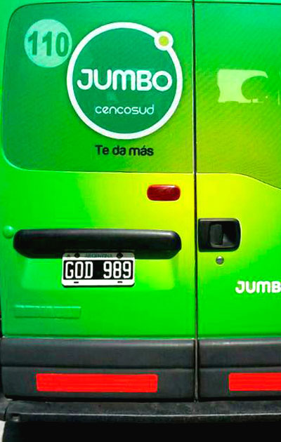 decoracion de vehiculos - disco - jumbo