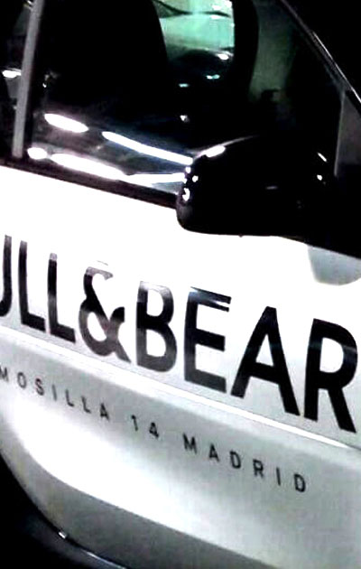 decoracion de vehiculos - pull & bear